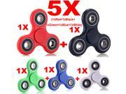 5 PACK Hand Spinner Tri Fidget Spinner Ceramic EDC Focus Toy Kids/Adult 5-Color