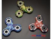 Tri-Spinner Fidget Toy Ceramic EDC Hand Finger Spinner Desk Focus Camo