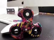 50PcsxColor painting Hand Spinner Tri Fidget Finger Fingertip Gyro Desk Toy EDC