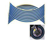 "Wheel Stickers Motorcycle Car Wheel Rim Reflective Metallic Stripe Decal 18"""" Blue"" 9SIA7BK2R29475"