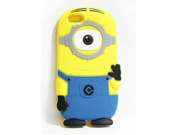 "Walsoon 3D Cute Cartoon Despicable Me Minion Soft Silicone Case Cover for Apple iphone 6 4.7"""" (Light Blue 1 Eye)"" 9SIV0F638A3466"