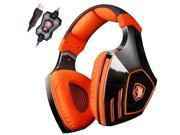 Sades A60 7.1 Surround Sound Stereo PC Pro USB Gaming Headsets Over-ear Headphones with Microphone Vibration (Orange) 9SIA7BP5YP2208