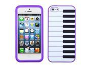 Apple iPhone 5S/5 Purple Piano Pastel Skin Case Cover