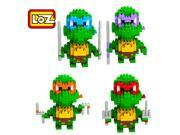 LOZ 9148-9151 820Pcs Teenage Mutant Ninja Turtles Diamond Building Blocks Toy 9SIAEFP6J56029