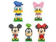 LOZ B00P9KICZQ 1190Pcs 5-Set Diamond Blocks Mickey Mouse Donald Duck Micky Minny Goofy Building Blocks 9SIA7CR2K38163
