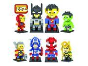 Charm Gift 8 Set LOZ Diamond Blocks Iron Man,captain America,spiderman,batman,superman,thor,hulk,loki Parent-child Games Building Blocks Children's Educational 9SIA7CR2K39682
