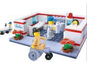 Wange 27166 Outpatient Medical 157 Pcs Block Brick Minifigures Building Toy