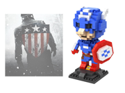 LOZ 9452 310Pcs American Captain Super Hero Avengers Building Blocks Toy 9SIA7CR31M6555