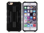 Hybrid Cases, Plane Design TPU&PC Case(black) for iPhone 6