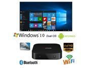 Smart TV Box Mini PC Intel Quad Core 1.83GHz Dual OS Official Windows 10 & Android 4.4 RAM:2GB/ROM:32GB