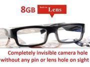 NEW 2015 8GB Hidden Camera Glasses NO PIN or LENS HOLE Micro HD Wireless Audio Video USB PC Mac Monitor Camera Wearable Eye Glasses Covert Monitoring Surveillance DVR Eyewear Spy Cam