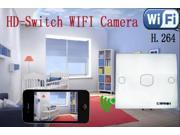 Smart WiFi Wall Switch Hidden Camera P2P Video Audio With iPhone Android PC Mac Wireless Monitoring Motion Detection Spy (Like Clock Functionality) IP DVR Baby Monitor Security HD Power Nanny Cam