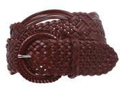 2 50 mm Genuine Leather Braided Woven Belt