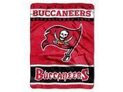 "Tampa Bay Buccaneers 60""x80"" Royal Plush Raschel Throw Blanket - 12th Man Design"