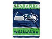 "Seattle Seahawks 60""x80"" Royal Plush Raschel Throw Blanket - 12th Man Design"