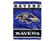 """Baltimore Ravens 60""""x80"""" Royal Plush Raschel Throw Blanket - 12th Man Design"""