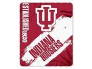 Indiana Hoosiers 50x60 Fleece Blanket - College Painted Design