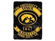 "Iowa Hawkeyes 60""x80"" Royal Plush Raschel Throw Blanket - Rebel Design"