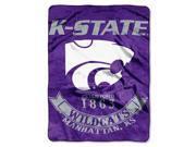"""Kansas State Wildcats 60""""x80"""" Royal Plush Raschel Throw Blanket - Rebel Design"""