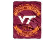 "Virginia Tech Hokies 60""x80"" Royal Plush Raschel Throw Blanket - Rebel Design"