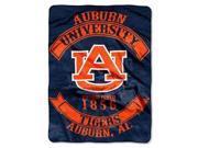 "Auburn Tigers 60""x80"" Royal Plush Raschel Throw Blanket - Rebel Design"
