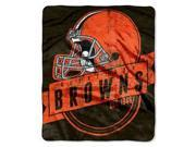 "Cleveland Browns 50""x60"" Royal Plush Raschel Throw Blanket - Grandstand Design"
