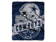 "Dallas Cowboys 50""x60"" Royal Plush Raschel Throw Blanket - Grandstand Design"