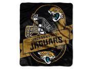 "Jacksonville Jaguars 50""x60"" Royal Plush Raschel Throw Blanket - Grandstand Design"
