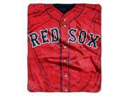 "Boston Red Sox 50""x60"" Royal Plush Raschel Throw Blanket - Jersey Design"