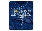 "Tampa Bay Rays 50""x60"" Royal Plush Raschel Throw Blanket - Jersey Design"