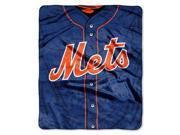 "New York Mets 50""x60"" Royal Plush Raschel Throw Blanket - Jersey Design"