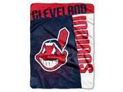 "Cleveland Indians 60""x80"" Royal Plush Raschel Throw Blanket - Strike Design"