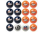 Denver Broncos NFL 8-Ball Billiard Set