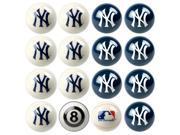 New York Yankees MLB 8-Ball Billiard Set