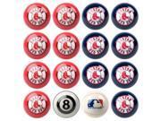 Boston Red Sox MLB 8-Ball Billiard Set