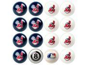 Cleveland Indians MLB 8-Ball Billiard Set