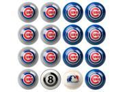 Chicago Cubs MLB 8-Ball Billiard Set
