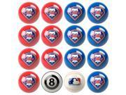 Philadelphia Phillies MLB 8-Ball Billiard Set