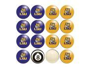 LSU Tigers NCAA 8-Ball Billiard Set