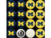 Michigan Wolverines NCAA 8-Ball Billiard Set
