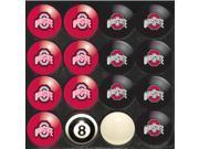Ohio State Buckeyes NCAA 8-Ball Billiard Set