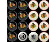 Chicago Blackhawks NHL 8-Ball Billiard Set