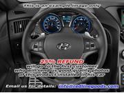 Hyundai Genesis Coupe 2013-15 steering wheel cover by RedlineGoods