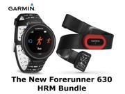 Garmin Forerunner 630 GPS Watch Black Bundle Smartwatch HRM Heart Rate Monitor Sport Running Athlete New Latest Model 2016 edition