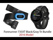 Garmin Forerunner 735XT Sport Watch with Tri-Bundle (Black/Gray)
