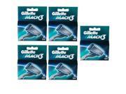 Gillette MACH3 SHAVING RAZOR CARTRIDGES BLADES 20 Pack /GENUINE