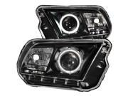 Anzo USA 121323 Headlight Assembly; Projector w/Halo 10-13 MUSTANG