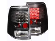 Black LED Taillights - Anzo