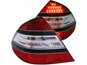 Red Clear LED Taillights - Anzo