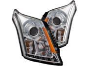 Chrome/Clear Projector Headlights - Anzo